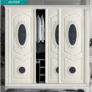 高端欧式定制衣柜门软包定制卧室推拉门移门定做衣帽间衣