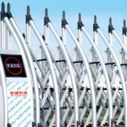 安城门业 豪华铝合金电动伸缩门 百胜无轨电动大门自动推拉电动门