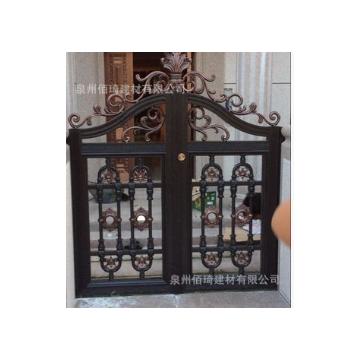 厂家直销庭院门 铝合金大门 实心铸铝门 别墅双开大门 铝艺小门