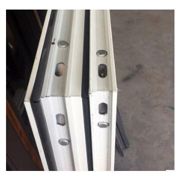 高档铝合金阳台中空隔音推拉窗断桥铝金刚网一体窗外开双色可定制