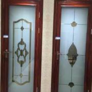 沙河艺术玻璃批发平开门移门艺术玻璃原片钢化玻璃加工成品门