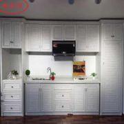现货批发新款全铝浴室柜橱柜门型材铝柜子全铝合金洗衣柜材料