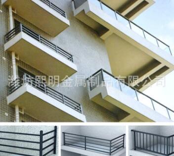 厂家定制铝合金阳台栏杆 小区阳台别墅隔离铝合金护栏批发