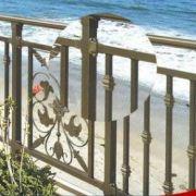优质阳台栏杆海边别墅栏杆防护栏杆金属材质坚固耐用可加工定制