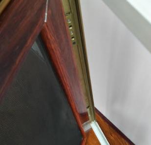 河北廊坊大城厂家供应批发 铝合金边框 金钢网纱窗 木纹色