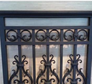厂家直销铝艺围栏 楼梯护栏阳台扶手 围栏配件85*57面包管灯笼花