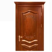 供应原木门 中式 平雕制作实木门 隔音实木平开门