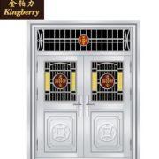 不锈钢门进户门 不锈钢防盗门 不锈钢门 对开门 农村庭院室外门