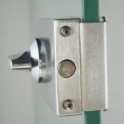 不锈钢玻璃门锁 单门旋钮插销玻璃门锁 浴室玻璃门锁 不带钥匙