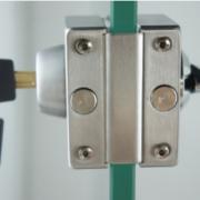不锈钢玻璃门锁无框玻璃门锁 单门双开带旋钮带中央锁 平推门锁