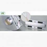 中央玻璃门锁双门双开带旋钮防盗门锁超B级叶片锁芯安全耐用