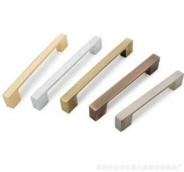 正品橱柜柜门抽屉衣柜空心铝合金太空铝拉手现代柜门把手