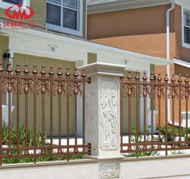 沃德尔铝艺围栏铝合金护栏小区别墅学校围墙围栏农村院墙栅栏定制