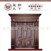 【益铜天下】超高品质对开花板真铜门 定制高档防盗防火隔音铜门