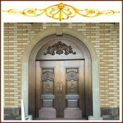 欧式复古双开铜门 雕花工艺防盗铜门铜进户门仿古门