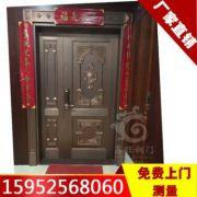 豪华别墅铜门 生产家用高级铜门 不锈钢自动铜门批发