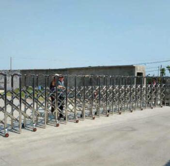 学校厂区电动伸缩门 无轨自动伸缩门 庭院别墅手动遥控不锈钢门