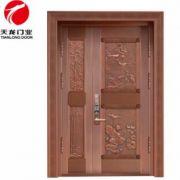 专业定制铜门双开门 别墅酒店防盗大门 加工订做铜门进户门 批发
