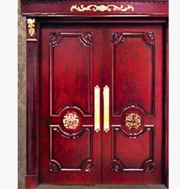 厂家订做木门 实木复合门 欧美复古对开门 木门生产厂家批发