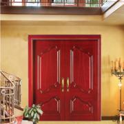 烤漆门 别墅客厅实木复合隔音防盗门 天然木皮环保油漆平开门定制