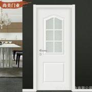 厂家定制 免漆门 强化烤漆室内门 简约白色卧室卫生间门 套装门