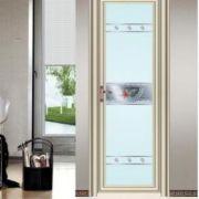 虹微厂价直促销凹弧单包边足1.0厚双层钢化玻璃铝合金门卫生间门