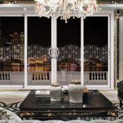 铝合金1.2凹弧电泳香槟推拉门客厅门钛镁合金白色平开门卫生间门