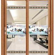 供应钛镁合金推拉吊趟水晶玻璃工艺适用于铝合金客厅阳台厨房门