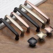 中式青古铜柜门拉手现代简约橱柜拉手欧式衣柜抽屉单孔小拉手美式
