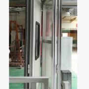 厂家定制安装折叠透明水晶门