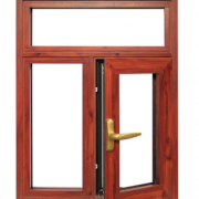 定做Y70系列黄铜加红梨木 各种规格木窗防风隔音平开窗