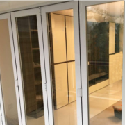 郑州定做铝镁合金玻璃折叠门客厅阳台隔断门室外折叠门平开门移门