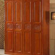 实木衣柜推拉门衣橱现代简约新中式橡木储物柜大容量大衣收纳柜子