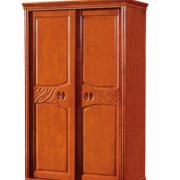 现代中式橡木卧室整体衣柜储物小巧衣橱