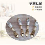 厂家直销陶瓷拉手 欧式现代简约橱柜抽屉衣柜门把手供应衣柜拉手