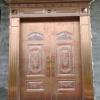 合兴隆名门 玫瑰金罗马柱家和万事兴铝花 不锈钢彩板门