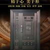 居旺阁 现代风格入户真铜门 智能指纹密码锁子母铜门高级定制安装