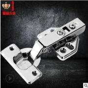 304固定式不锈钢铰链 橱柜小五金液压门铰阻尼缓冲飞机脚铰链批发
