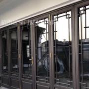中式仿古断桥铝门窗 别墅风景区门窗 寺庙量身定做中式铝合金门窗