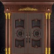 定制高端甲级防盗门铸铝门对开门平开门庭院安全门厂家直销别墅