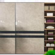 多层实木衣柜门定做大衣柜推拉门移门现代简约卧室衣橱滑动门定制