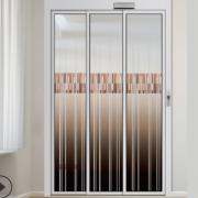 三扇重叠自动门厨房阳台隔断门双层玻璃推拉门移门折叠卧室定制