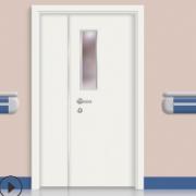 佛山复合门厂家工程镀锌钢板门定制学校教室铁门工厂宿舍钢质门
