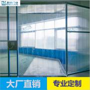 鼎帅门业厂家供应防尘透明PVC软门帘 恒温条纹PVC门帘