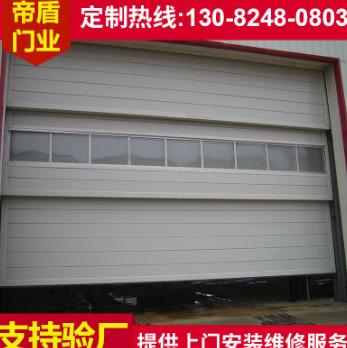 超大型多段提升门 铝合金垂直提升工业门 车间消防车库滑升门