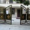 广州厂家生产折叠双开电动铁艺门私家别墅庭院遥控热镀锌铁艺大门