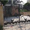 广州铁艺厂家专业定做欧式豪华双开推拉大铁门 户外热镀锌大门