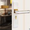 门锁厂家直销卧室静音锁具木门把手房间执手锁室内门锁批发白色