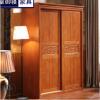 1.5米二门大移门衣柜实木卧室整体组合木质大衣橱现代中式收纳柜