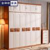实木衣柜中式纯木质衣柜经济型整体衣橱主卧加顶大容量收纳衣柜